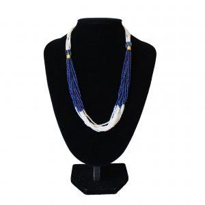 2 colour 2 beads short necklace
