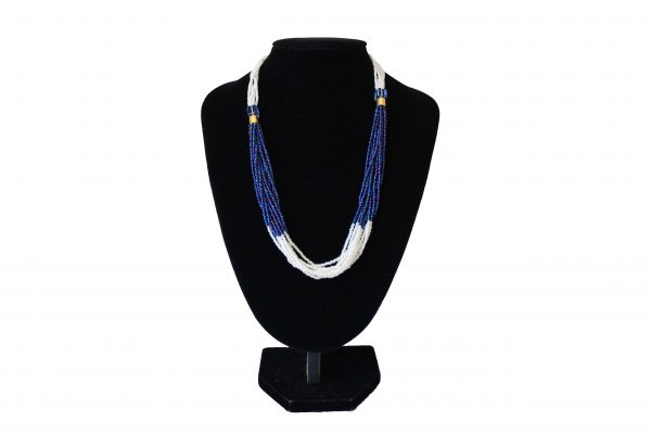 2 colour 2 beads short necklace