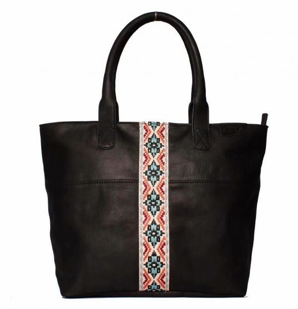 Afrikana Tote Leather Bag